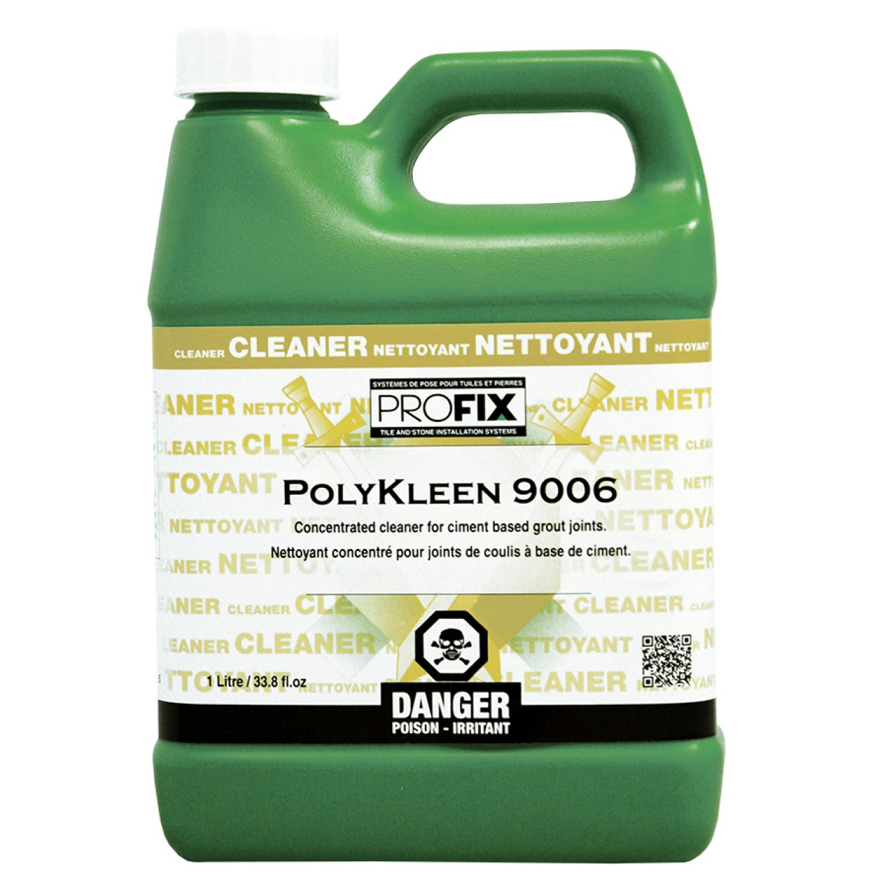 Profix systems polykleen 9006 cement grout cleaner for Grout cleaner