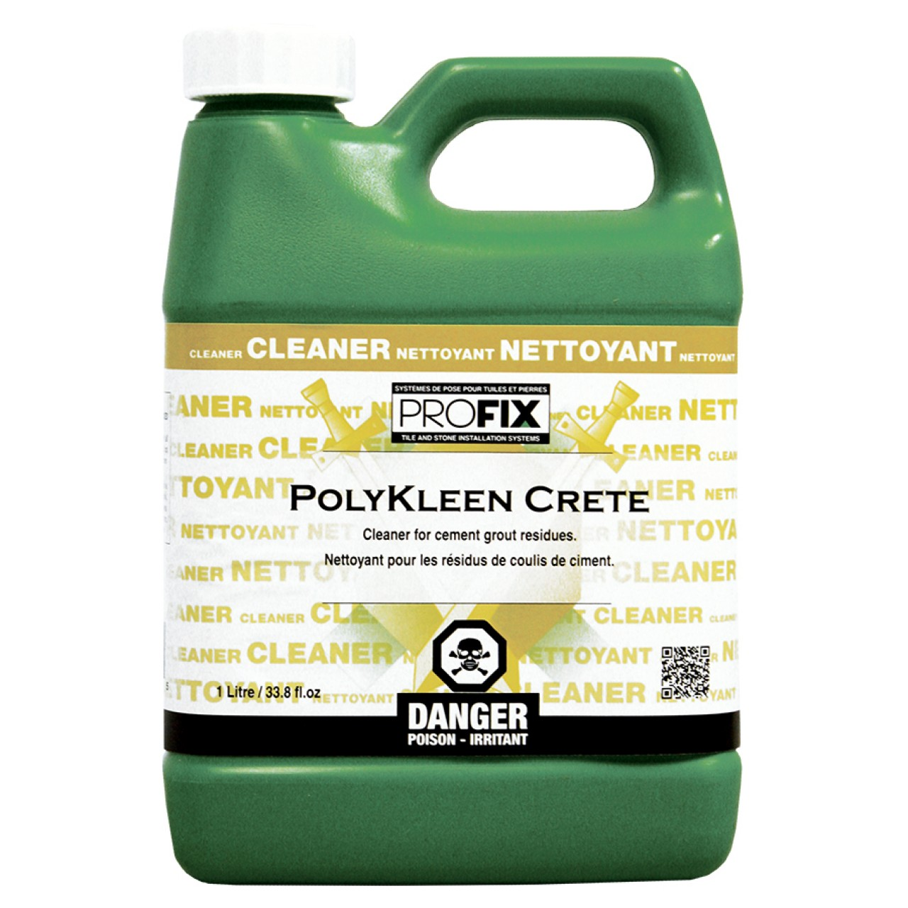 Profix systems polykleen crete cement grout haze cleaner for Homemade cement cleaner
